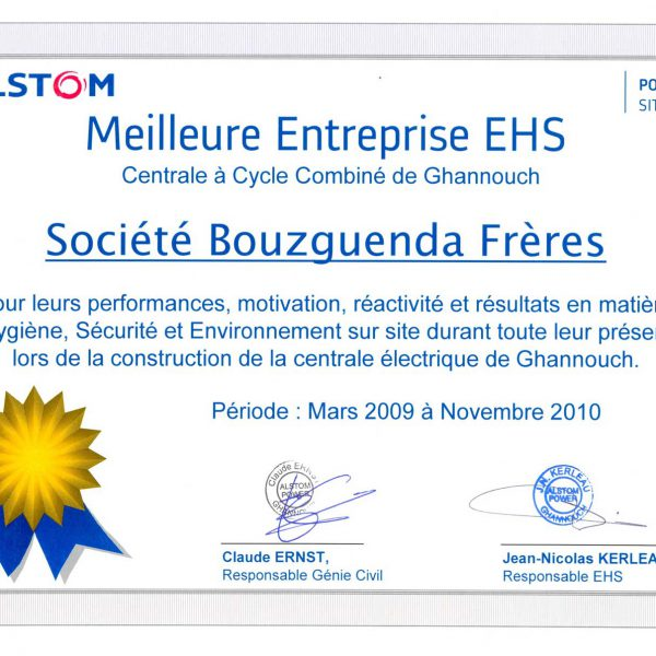 Certificat--Project-Ghannouch-Alstom-HSE